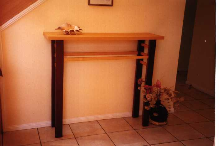 Hall-table, evodia and rosewood (for Ann and Peter Pleasants)